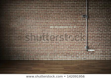 Kroonluchter baksteen plafond kasteel oude metaal Stockfoto © vapi