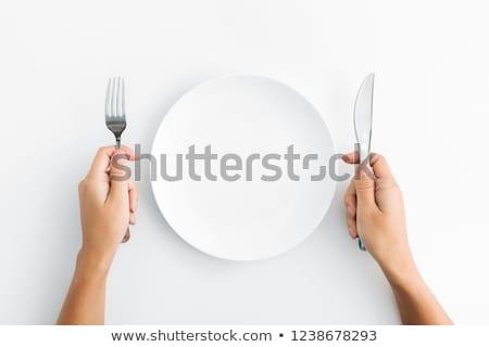 Hand Holding Fork Stock photo © Krisdog