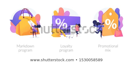 Program müşteri cazibe pazarlama alışveriş satış Stok fotoğraf © RAStudio