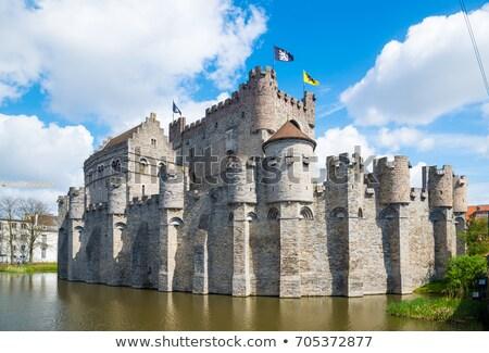 Belgium kastély középkor égbolt épület város Stock fotó © borisb17