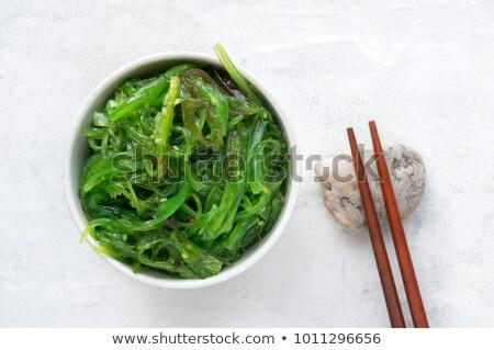 サラダ · 食品 · 背景 · レモン · アジア · 白 - ストックフォト © joannawnuk