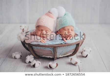 Portrait of brother and sister with a basket ball Stock photo © Lopolo