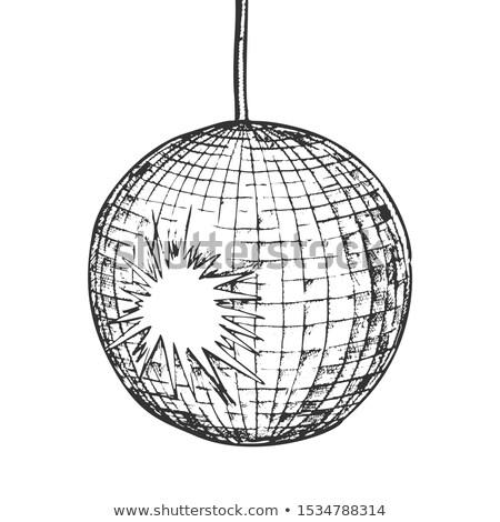 Disco ball night club in bianco e nero vettore eleganza Foto d'archivio © pikepicture