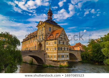 Bamberg. Scenic view of Old Town Hall of Bamberg (Altes Rathaus) stock photo © xbrchx