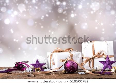 Navidad vacaciones púrpura vintage vacaciones Foto stock © Anneleven