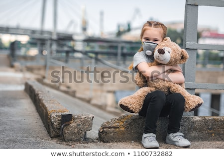 Air pollution with kids in the city Stock photo © bluering
