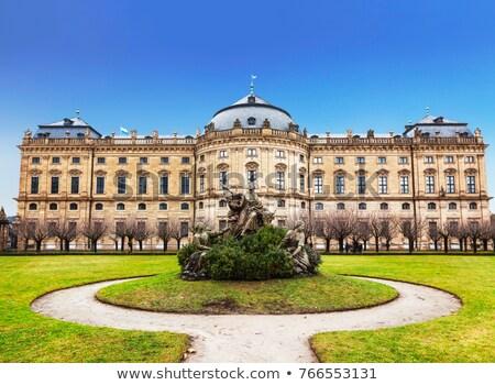 Residenza Germania barocco palazzo cielo erba Foto d'archivio © borisb17