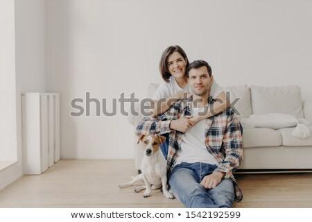Affettuoso moglie marito piano divano preferito Foto d'archivio © vkstudio