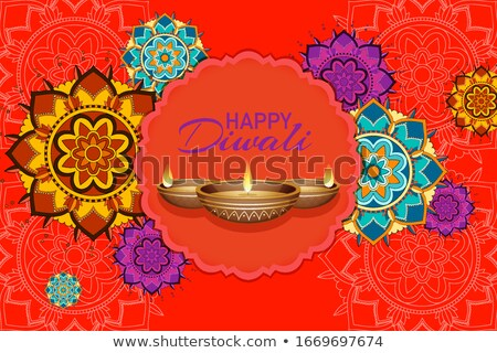 Mandala mutlu diwali festival örnek çiçek Stok fotoğraf © bluering