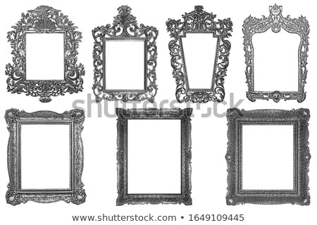 Set of rectangle Decorative vintage silver-plated wooden frame i Stock photo © smuki