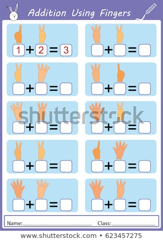 maths calculation educational worksheet page Stock photo © izakowski