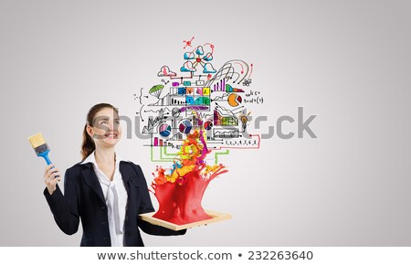 окрашенный · деловая · женщина · портрет · элегантный · женщины · очки - Сток-фото © pressmaster
