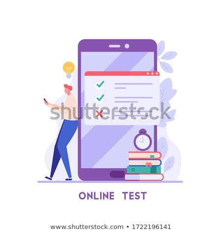 On-line distância exame escolha educação isométrica Foto stock © -TAlex-