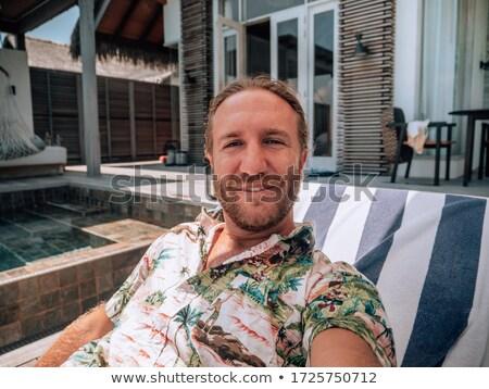 若い男 プール 肖像 ハンサム スイミングプール 水 ストックフォト © curaphotography