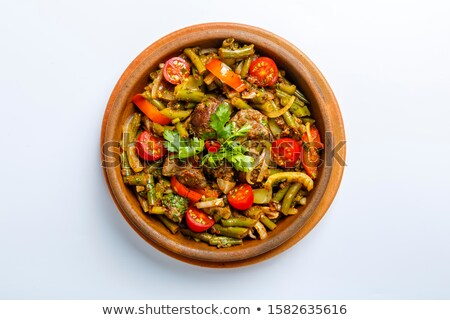liver with vegetables Stock photo © tycoon
