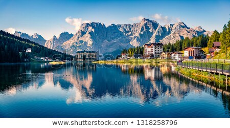 Lake Misurina in Dolomiti Alps alpine landscape view Stock photo © xbrchx