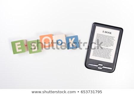 читатель Top красочный книгах деревянный стол Сток-фото © magraphics