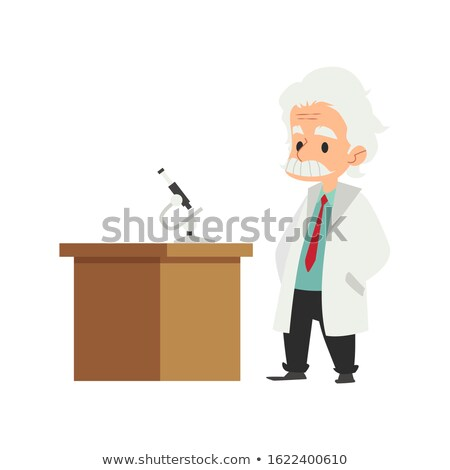 Wissenschaftlichen Professor Zeichen Sprechblase Gläser Wissenschaft Stock foto © yupiramos