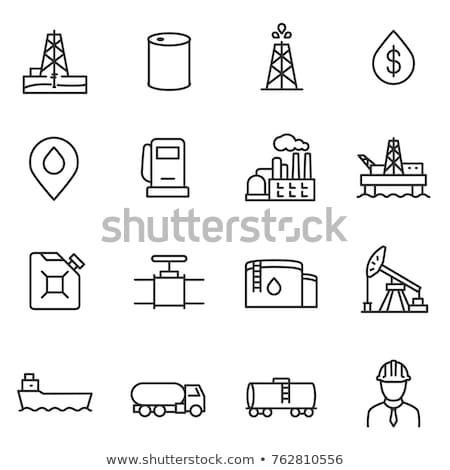 ガス タンク トラック アイコン ベクトル ストックフォト © pikepicture