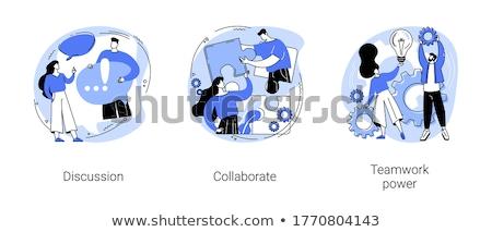 Travail collaboration vecteur métaphore coopération travaux Photo stock © RAStudio