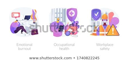 сотрудник здоровья аннотация вектора набор Сток-фото © RAStudio