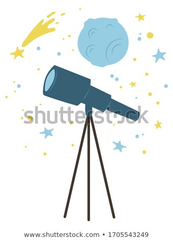 Telescope and Falling Star, Planet Cosmic Bodies Stock photo © robuart