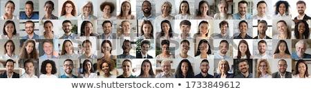 Beaucoup différent personnes coloré icônes fille Photo stock © marish