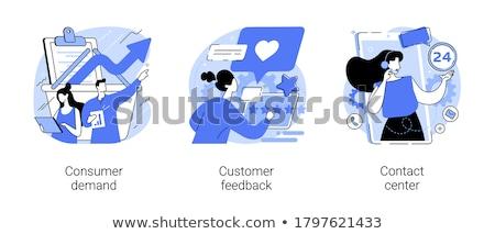 Fogyasztó követelés absztrakt vásárló döntés vásárol Stock fotó © RAStudio