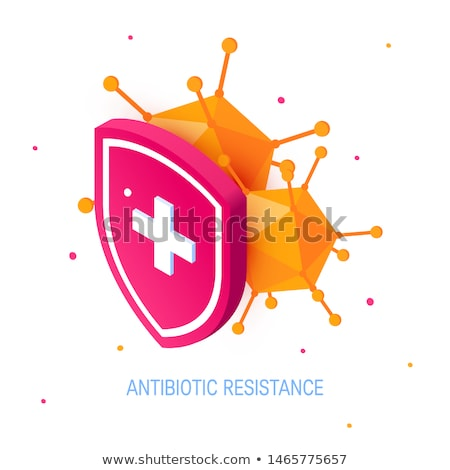 Illness Disease Bacteria isometric icon vector illustration Stock photo © pikepicture