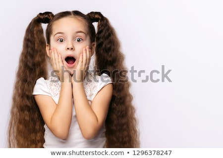 Astonished young girl Stock photo © iko