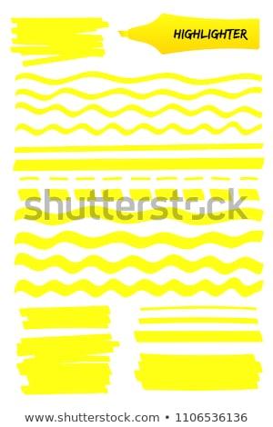 ネオン 文字 マーカー 画像 黄色 学校 ストックフォト © magann