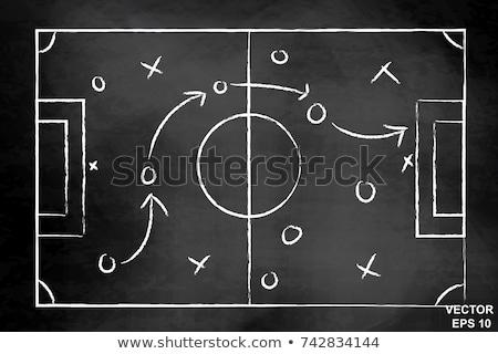 Photo stock: Main · dessin · football · jeu · stratégie · blanche
