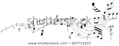 sheet music and flowers stock photo © stephaniefrey
