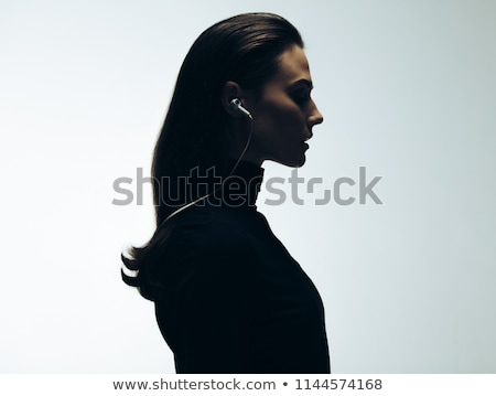 Musical silhouette note cheveux muse Photo stock © orson
