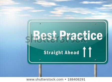 Foto stock: Best Practice Road Sign