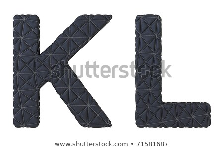 Luxury Soft Leather Font K L Letters Isolated Stok fotoğraf © Arsgera