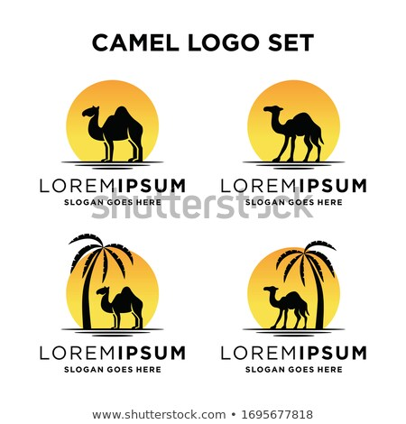 camel emblem logotype silhouette vector illustration stock photo © konturvid