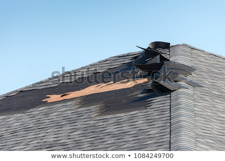 damaged roof Stock photo © morrbyte