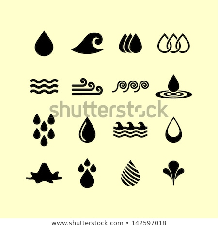 Set of Turquoise Waters Icons with reflection stock photo © Ecelop