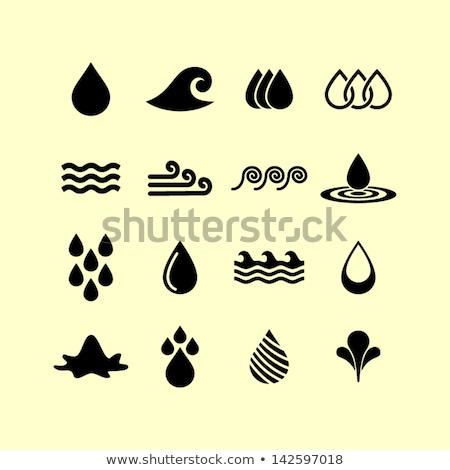 establecer · turquesa · iconos · reflexión · agua · naturaleza - foto stock © Ecelop