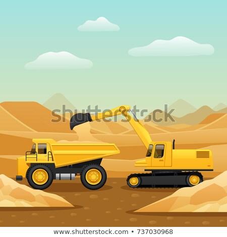 Escavadeira caminhão areia indústria poder motor Foto stock © goce
