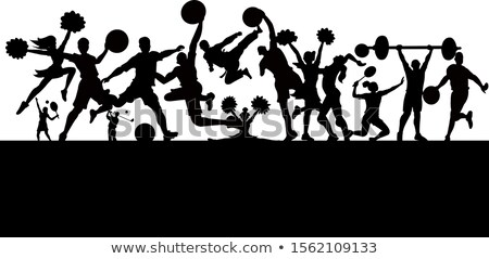 Hockey! Football! Soccer! Baseball! Cheerleaders! Vector! Stock photo © damonshuck