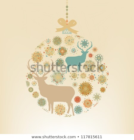 Photo stock: Noël · carte · de · vœux · flocons · de · neige · eps · vecteur · fichier