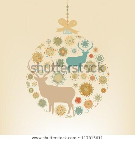 résumé · rouge · hiver · flocons · de · neige · eps · vecteur - photo stock © beholdereye