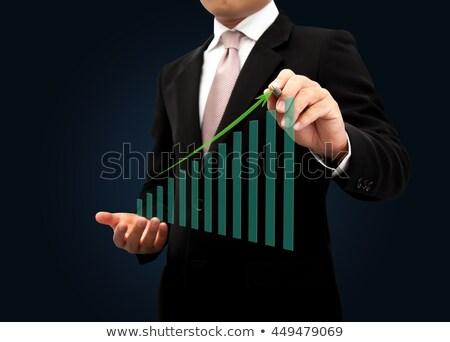 voordeel · groene · pijl · pijlen · leuze · grijs - stockfoto © 4designersart
