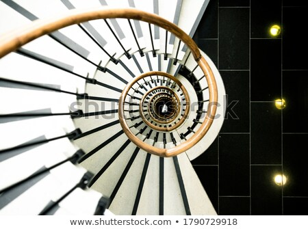 Mädchen · Treppenhaus · weiblichen · Sitzung · Schritte - stock foto © iofoto