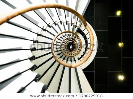Girl in stairwell. Stock photo © iofoto