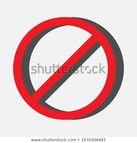 Stock photo: Abstract Glossy Stop Icon