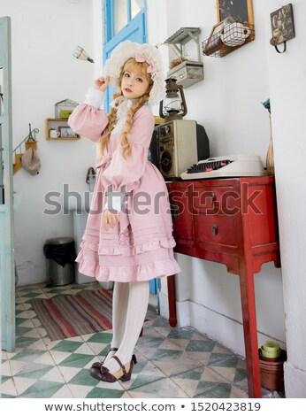 Japonês doce retrato menina cosplay estilo Foto stock © smithore