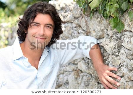 Goed kijken man oude steen land Stockfoto © photography33